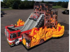 Inflatable Fire Rescue Obstacle Course