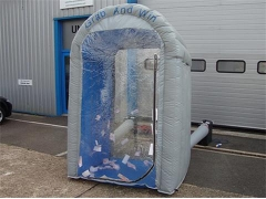 Silvery Inflatable Cash Booth
