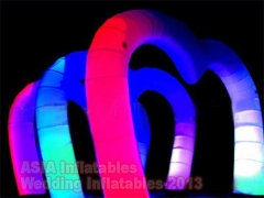 LED Lights Inflatable Stage