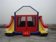 4 1 Dual Lane Bounce House Slide Combo'da