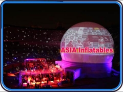 White Inflatable Portable Projection Dome