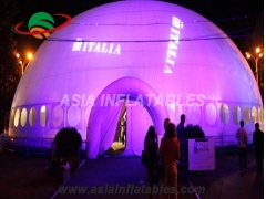 Inflatable lighting tent