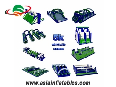Innovative Outdoor Inflatable 5K meters adult obstacles giant inflatable obstacle course